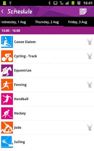 ロンドンオリンピック公式アプリ3