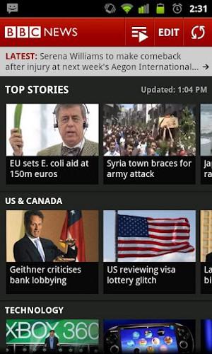 BBC News ストリーム画面