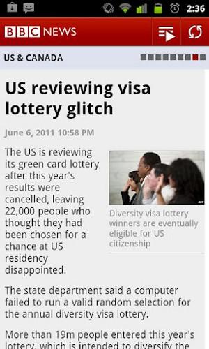 BBC News 記事画面