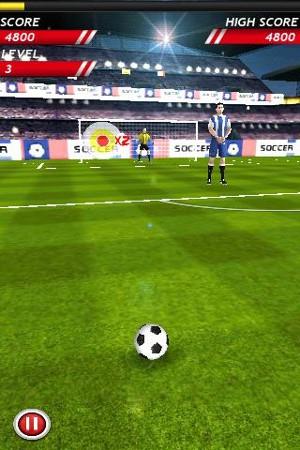 サッカーボール Soccer Kicks プレイ画面