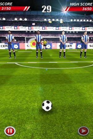 サッカーボール Soccer Kicks プレイ画面2