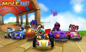 Mole Kart タイトル画面