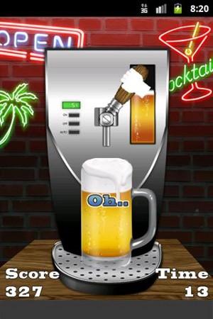 ビールサーバー プレイ画面