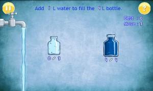 水を満たすゲーム プレイ画面1