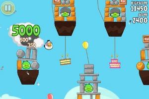 Angry Birds プレイ画面1
