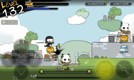 今日から忍者 プレイ画面2