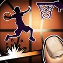 『ダンクシュートアシスト』 絶妙なフリックでダンクをアシストする爽快バスケゲーム!
