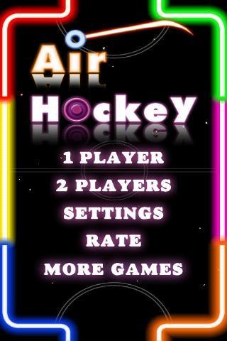 エアホッケー Air Hockey Deluxe プレイ画面1