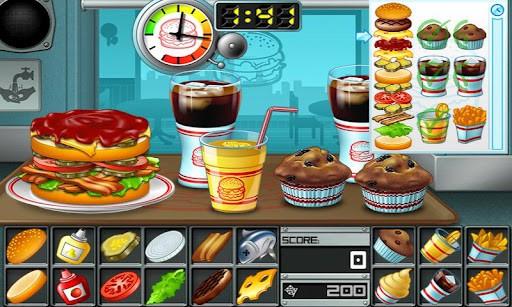 バーガー プレイ画面2